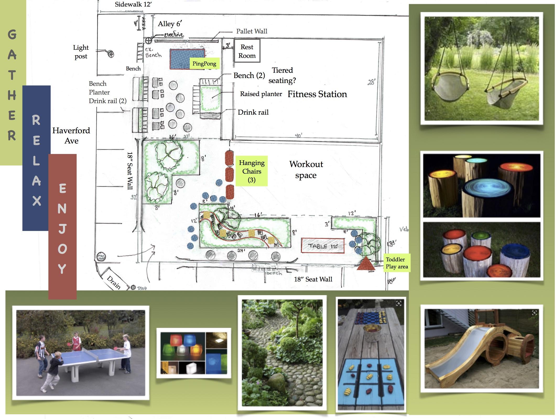 Pocket Park Design Pg 3 Bloom Thyme Design Gardens Llc